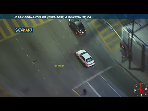 Police Chase Stolen Car Near Downtown Los Angeles  | ABC7 Los Angeles