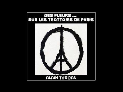 Alain TURBAN Des fleurs sur Les trottoirs de Paris