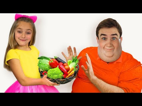 Sasha Pretend Play To Cook Healthy Food For Dad And Goes On A Fruit Adventure Of Superheroes