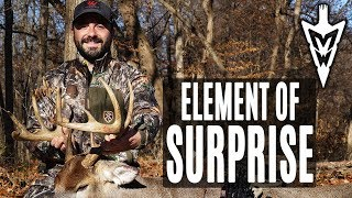 The Element of Surprise, Public Land Bruiser From The Ground | Midwest Whitetail