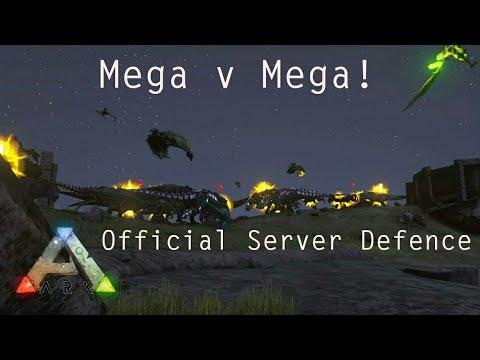 Ark - Official Server Mega Tribe Defence! Massive FOB! - ARK SURVIVAL EVOLVED RAID DEFENCE