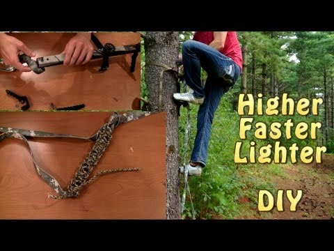 Hunting Climbing Stick Modification - Higher, Faster, Lighter!