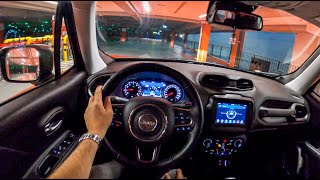 Jeep Renegade Night | POV Test Drive #588 Joe Black