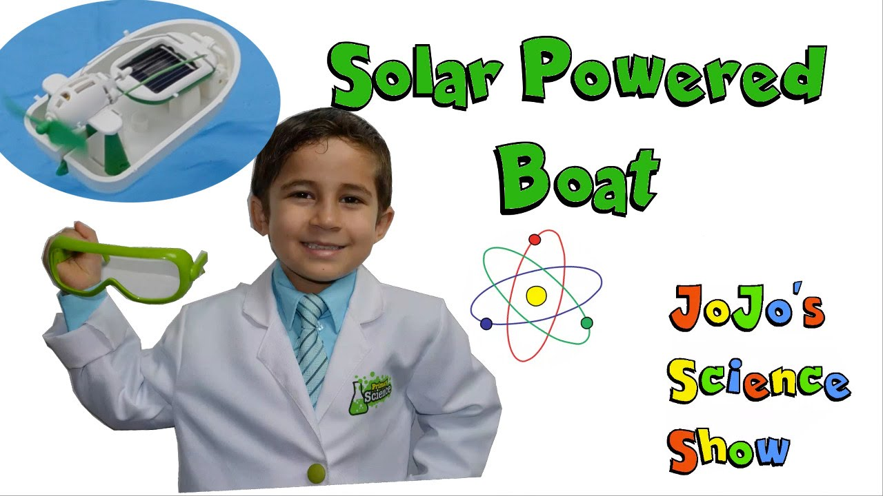 Kid science experiment solar powered model boat youtube for How to make a simple solar panel for kids
