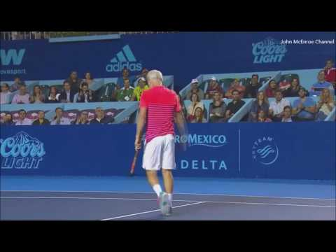 Pete Sampras vs McEnroe Final - Monterey Highlights
