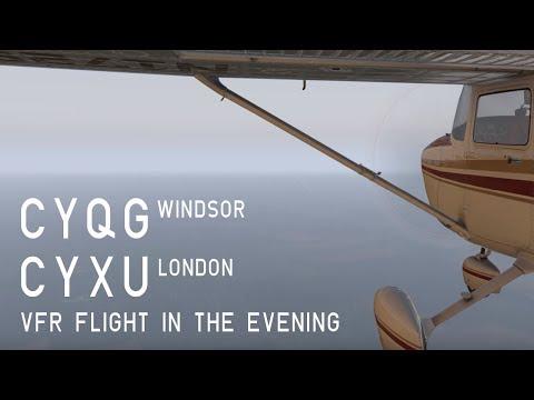XP11 Co-op Flight, CYQG Windsor to CYXU London