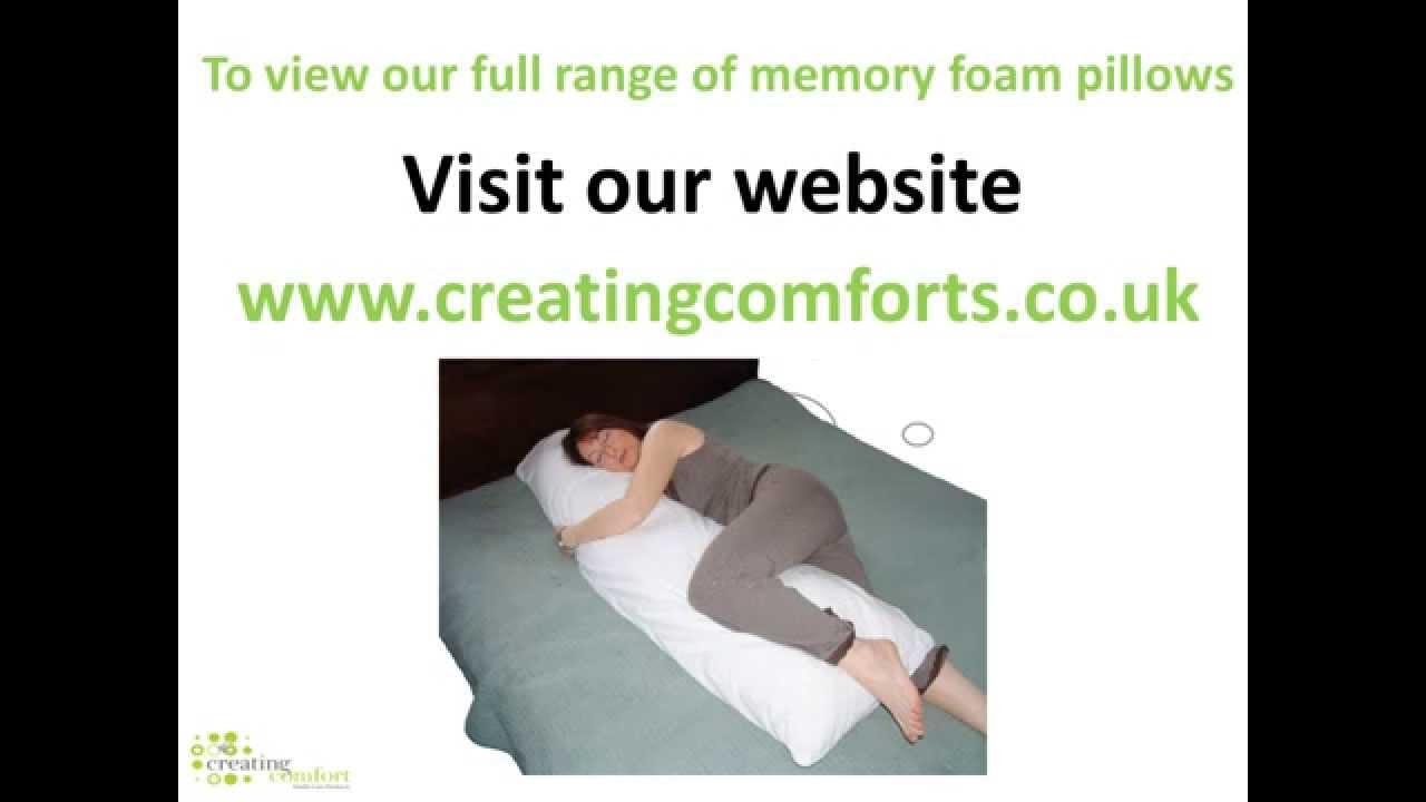 Memory Foam Long Bolster Pillow Body pillow YouTube