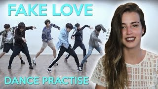 [CHOREOGRAPHY] BTS (방탄소년단) 'FAKE LOVE' Dance Practice  - REACTION [GENA VLOGS]