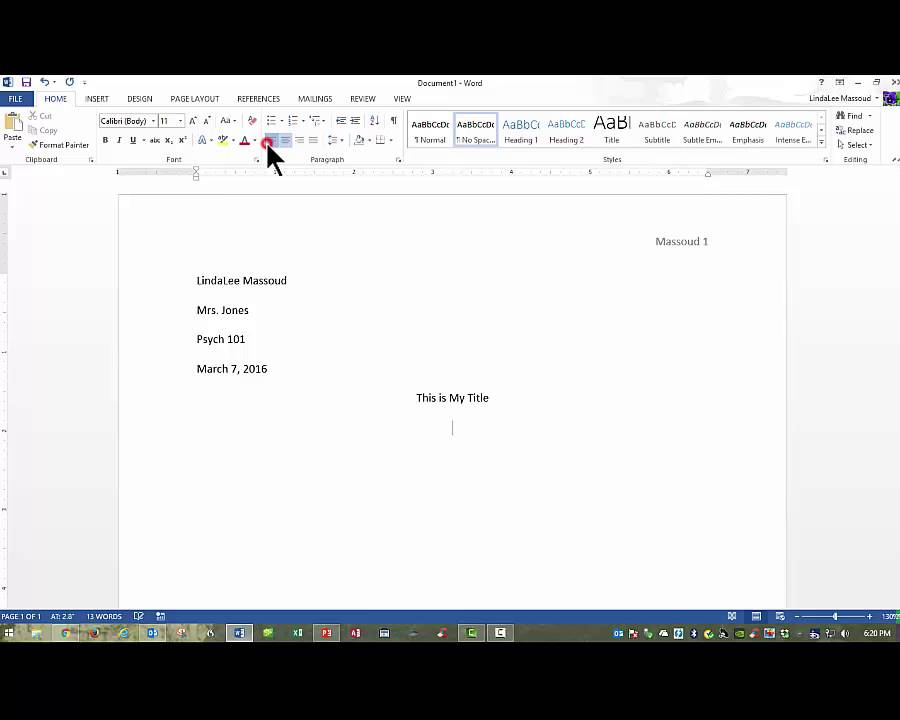 how to create a title page mla
