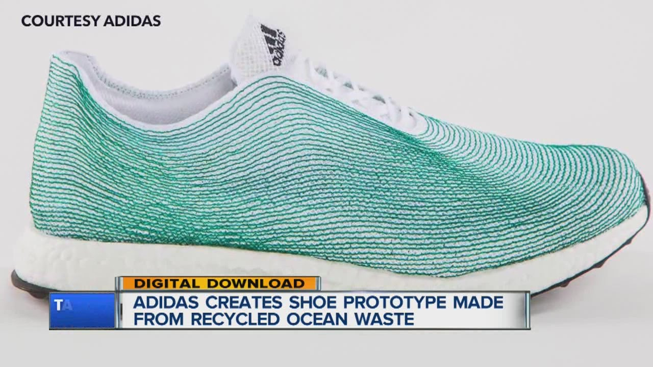 Adidas, Parley for the Oceans creates concept shoe with recycled ocean  waste - YouTube