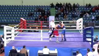 BOXING SEMI-FINAL 2019 -18-04 (+91kg) RED Mixeili BAXTIDZE GEO - ორთაბრძოლა რუსი მეტოქის წინააღმდეგ.