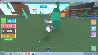 Walkthrough in a game called Ninja Masters in Roblox