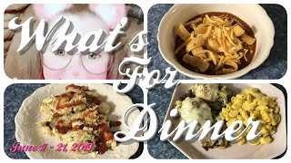 What's For Dinner 🔪Cook With Me Style🍳 Easy Meal Ideas and Recipes 🍆📕June 17 - 21, 2019