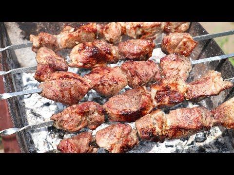 ОЧЕНЬ СОЧНЫЙ ШАШЛЫК! Классический Рецепт Шашлыка! Как Просто Замариновать Мясо для Шашлыка!