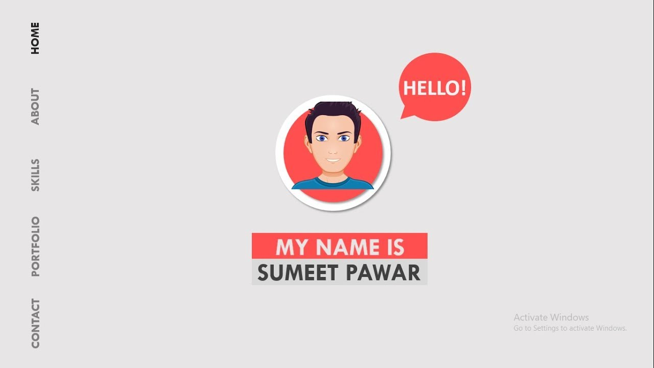 Animated Resume Using Microsoft PowerPoint | Sample Resume