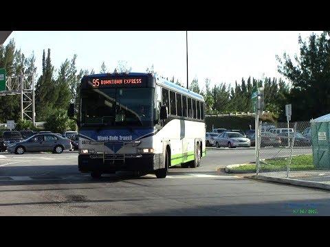 Miami Dade Transit bus action around the city 2017 part 1