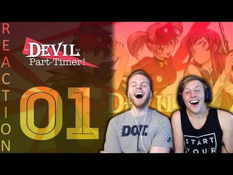 SOS Bros React - Devil Is A Part Timer Episode 1 - Starting Life In Another World