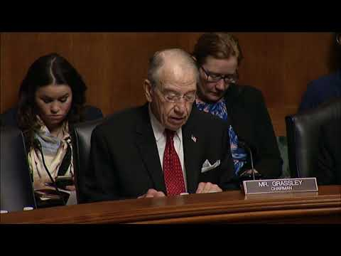 Grassley Statement at Hearing on Sexual Harassment & Workplace Misconduct in Federal Judici