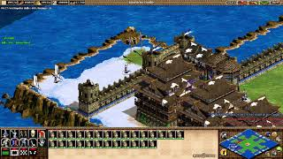 💯C.S 🇵🇪 CBA HERO 1vs1vs1 CIVI⚔️MONGOLES⚔️I WIN😀Age of Empires II💯