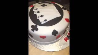 Playing cards cake. birthday cake