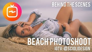IGTV Beach Photoshoot Behind The Scenes ScioliDesign x GinaScrocca (Vertical Video)