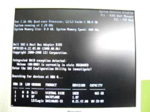 Dell Poweredge T310, iDRAC6 Communication failure