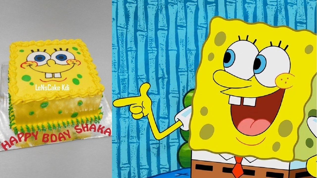 Spongebob Cake Tutorial Easy YouTube