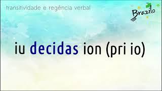 DECIDI verbo em Esperanto