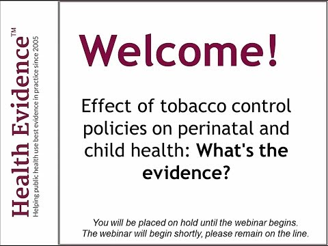 Effect of tobacco control policies on perinatal and child health: What's the Evidence?