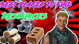 BEST PLACES TO FIND RESOURCES! - FORTNITE BATTLE ROYALE GAMEPLAY!!