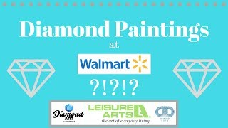 Diamond Paintings at Walmart?!? - Diamond Art by Leisure Arts - Unboxing 2 Kits