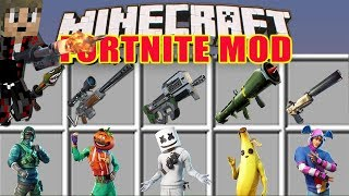 Minecraft FORTNITE MOD!! | ALL ITEMY AND V-BUCKS IN MINECRAFT!! 🤩