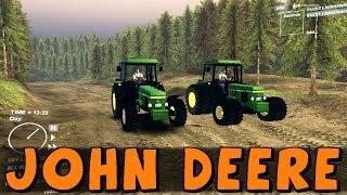 SpinTires | Farming Simulator! John Deere 4x4 and 8x8 Tractors | Download Link In Description