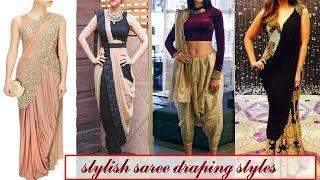 Stylish ways to drape a saree// saree draping styles \ Fashion Alert