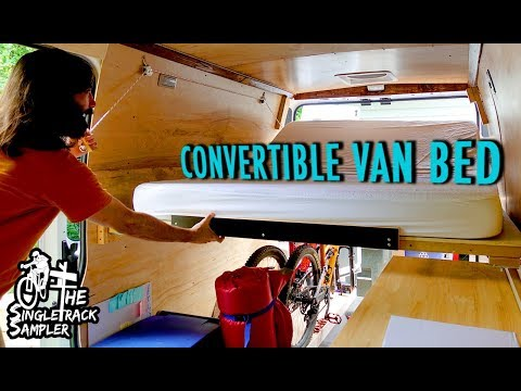 VANLIFE BED TO COUCH CONVERSION, SIMPLE YET FUNCTIONAL! // Singletrack Sampler Van Build (Ep. 4)
