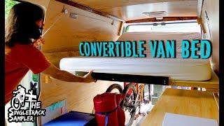 VANLIFE BED TO COUCH CONVERSION, SIMPLE YET FUNCTIONAL! // Singletrack Sampler Van Build (Ep. 6)