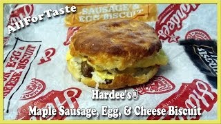 Hardees Maple Sausage, Egg, & Cheese Biscuit
