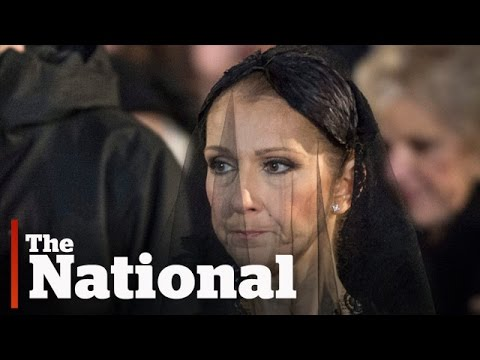 Celine Dion Mourns At Rene Angelil S Funeral Youtube