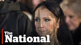 Celine Dion Mourns at René Angélil