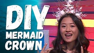 DIY MERMAID CROWN UNDER $15!! w/ Haley Tju