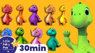 10 Little Dinosaurs - Learn how to Count 1-10 +More Nursery Rhymes | ABCs and 123s | Little Baby Bum