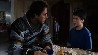 "ZATHURA [2005] Scene: ""Rescue stranded Astronaut."""