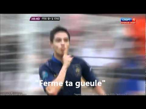 "Samir Nasri : ""Ferme ta gueule"" au journal L'EQUIPE - France 1-1 Angleterre - Euro 2012 - 11-06-12"