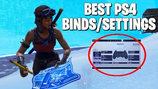 BEST PS4 CONTROLLER FORTNITE SETTINGS **Settings For Aim AND Building**