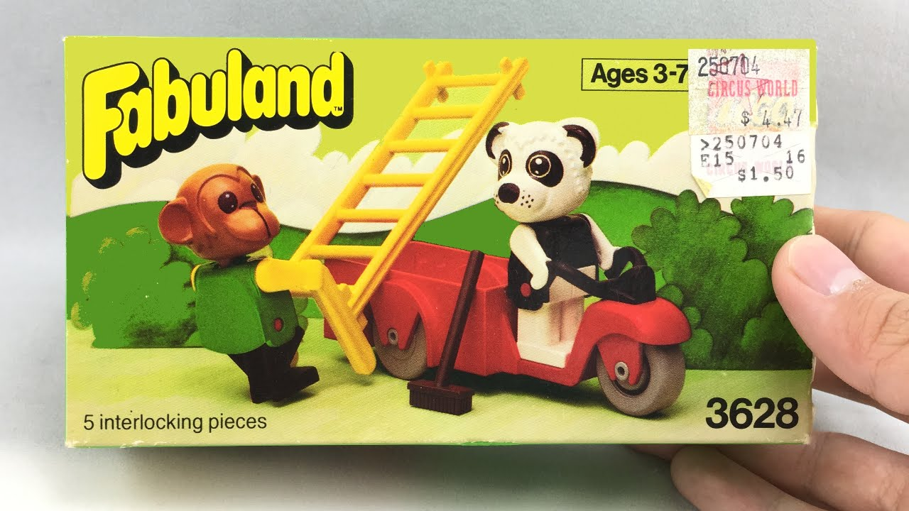 Lego Fabuland Perry Panda And Chester Chimp Set Review 1981 Set