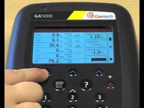 GA5000 portable landfill gas analyser
