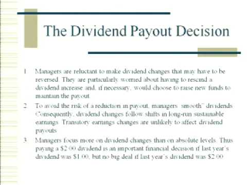 finance and dividend payout policy essay Test and improve your knowledge of dividends & dividend policy with fun multiple choice exams you can take online with study can pay more dividends to.