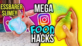 MEGA INSTAGRAM FOOD HACKS & DIYs im LIVE TEST! 🌈😱