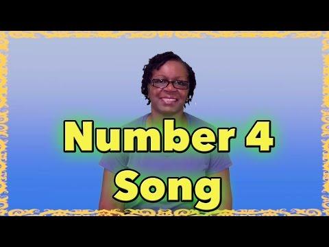 Number 4 Song - Preschool education - LittleStoryBug