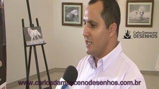 DESENHOS REALISTAS - ENTREVISTA DE CARLOS DAMASCENO À TV SUDOESTE